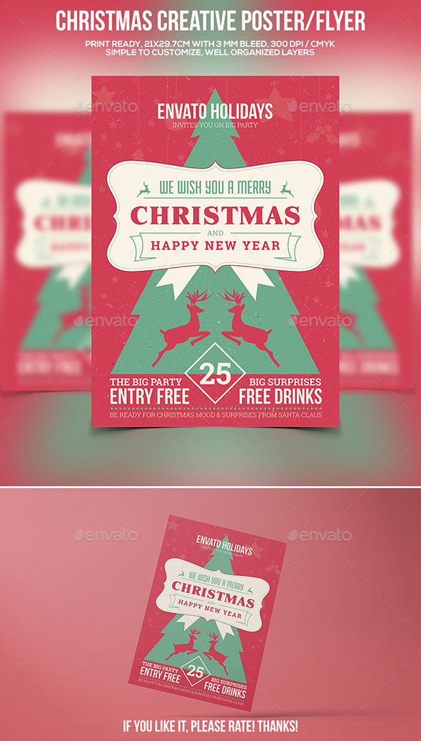 GraphicRiver Christmas Party Poster Flyer Vol.2 9489825