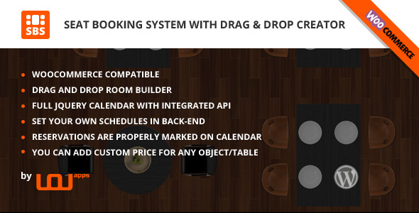 CodeCanyon Seat Booking System with Drag & Drop Creator Woo 9490324
