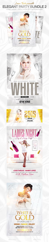 GraphicRiver Elegant Party Flyer Bundle White Affair Edition 9490643