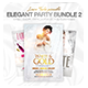 Elegant Party Flyer Bundle - White Affair Edition - GraphicRiver Item for Sale