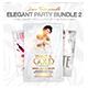 Elegant Party Flyer Bundle - White Affair Edition - GraphicRiver Item for Sale