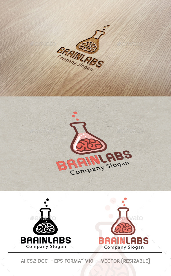 GraphicRiver Brain Labs Logo 9490730