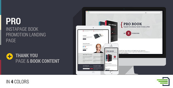 ThemeForest PRO Instapage Book Landing Page 9490739