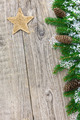 Christmas decoration on old wooden board - PhotoDune Item for Sale