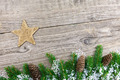 Christmas fir tree on a wooden board - PhotoDune Item for Sale