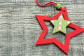 Christmas star on wooden plank - PhotoDune Item for Sale