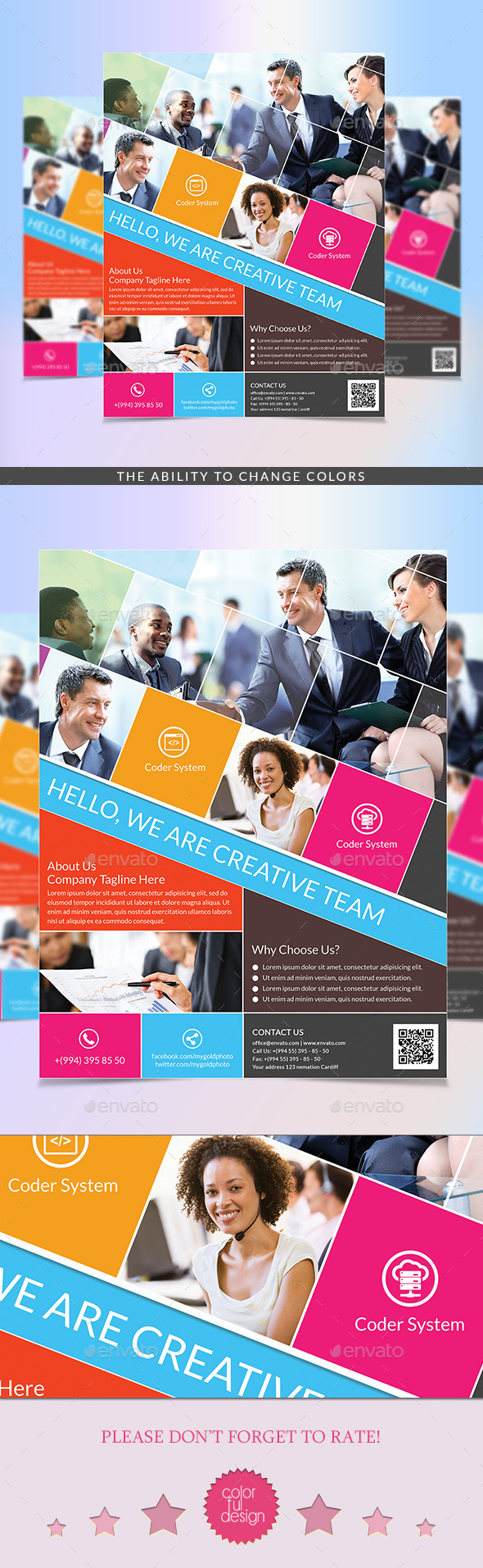 GraphicRiver Metro Style Flyer Template 9491136