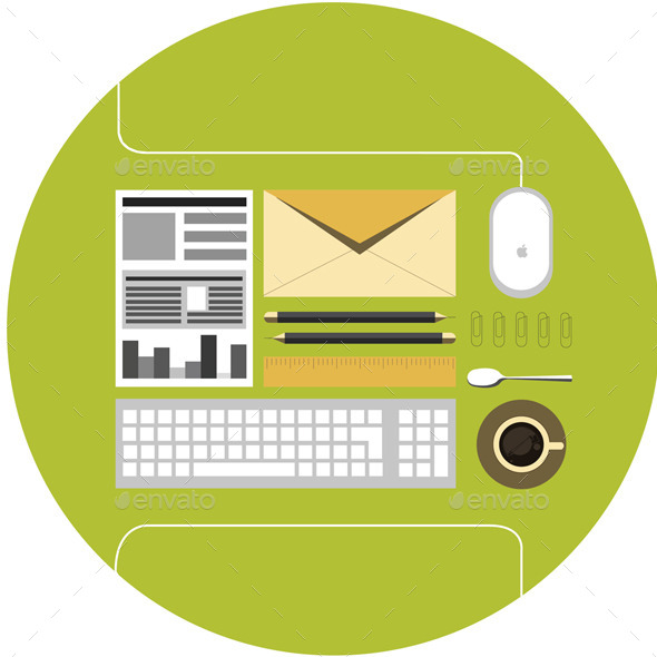 GraphicRiver Office Flat Icon 9491157