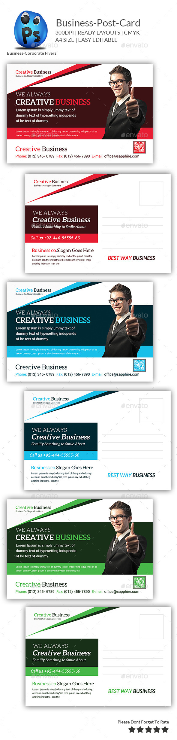 GraphicRiver Corporate Business Postcard 9491292