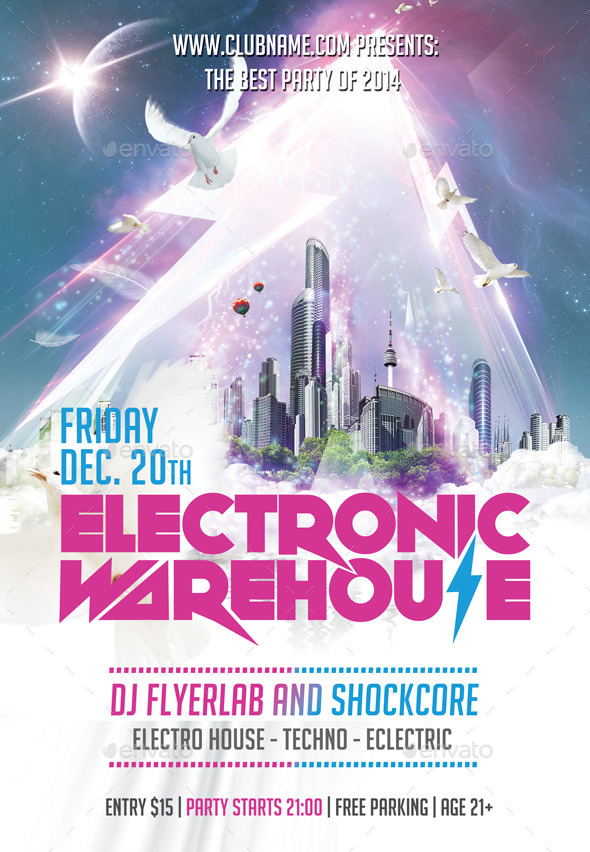 GraphicRiver Flyer Electric Warehouse 9445561