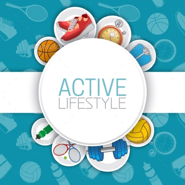 GraphicRiver Active Healthy Lifestyle Background 9491415
