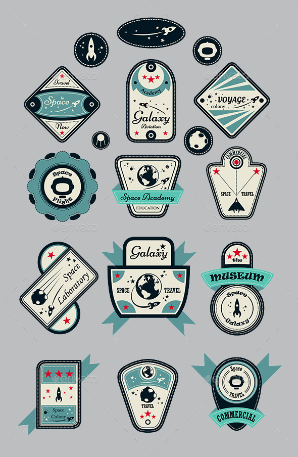 GraphicRiver Space Galaxy Labels 9491466
