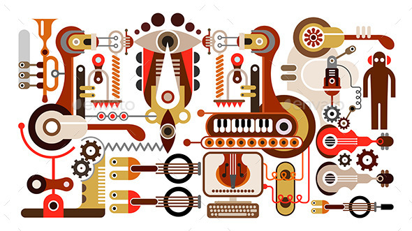 GraphicRiver Musical Instrument Factory 9491506