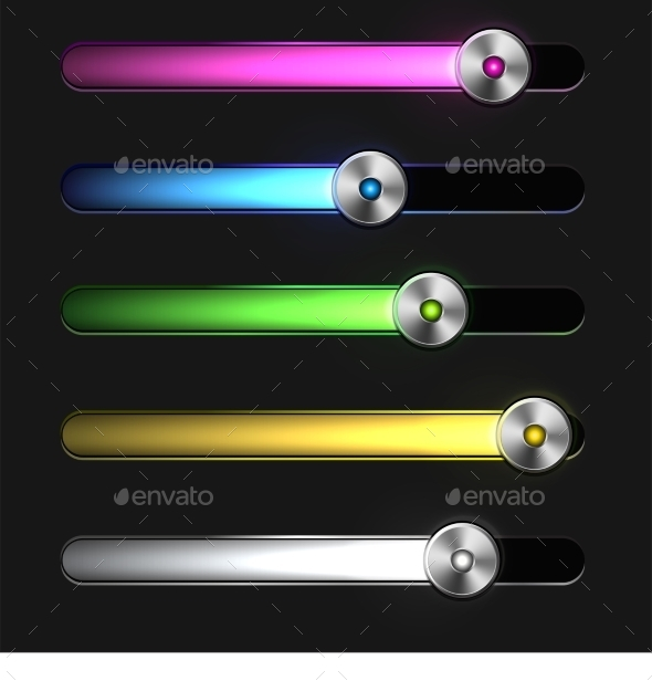GraphicRiver Equalizer Glossy Glowing Track Bar 9491563