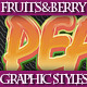 Set of Fresh Fruits and Berries Graphic Styles - GraphicRiver Item for Sale