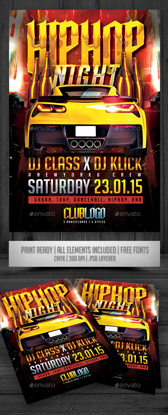 GraphicRiver HipHop Night Flyer 9491678