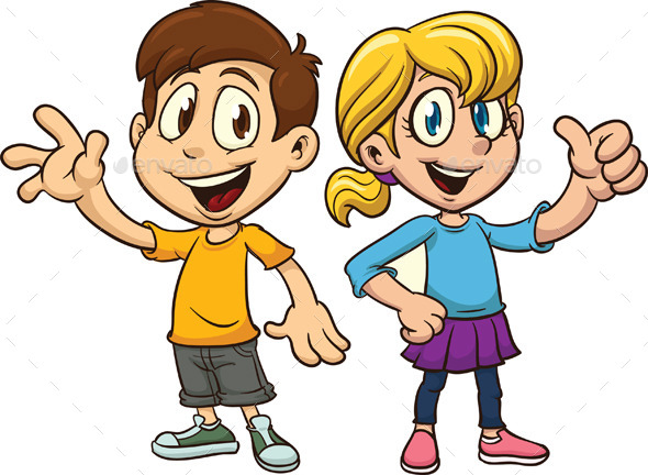 GraphicRiver Cartoon Boy and Girl 9491703