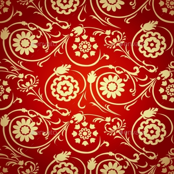 GraphicRiver Decorative Seamless Pattern in Ottoman Motif 9491735