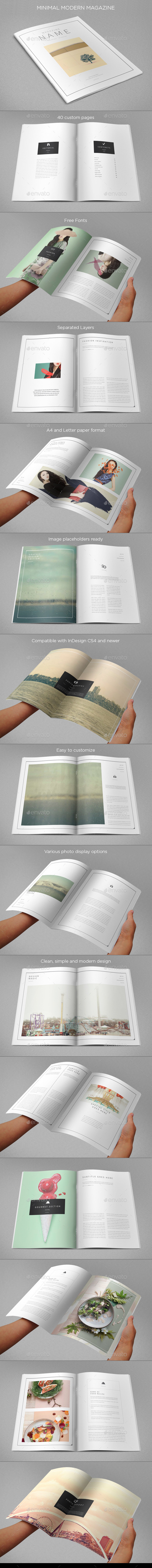 GraphicRiver Minimal Modern Magazine 9491836