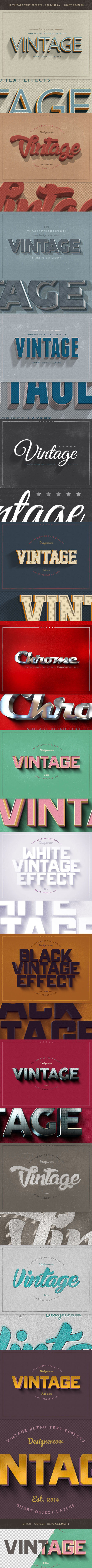 New Vintage Retro Text Effects