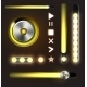 Equalizer and Player Metal Buttons with Track Bar - GraphicRiver Item for Sale