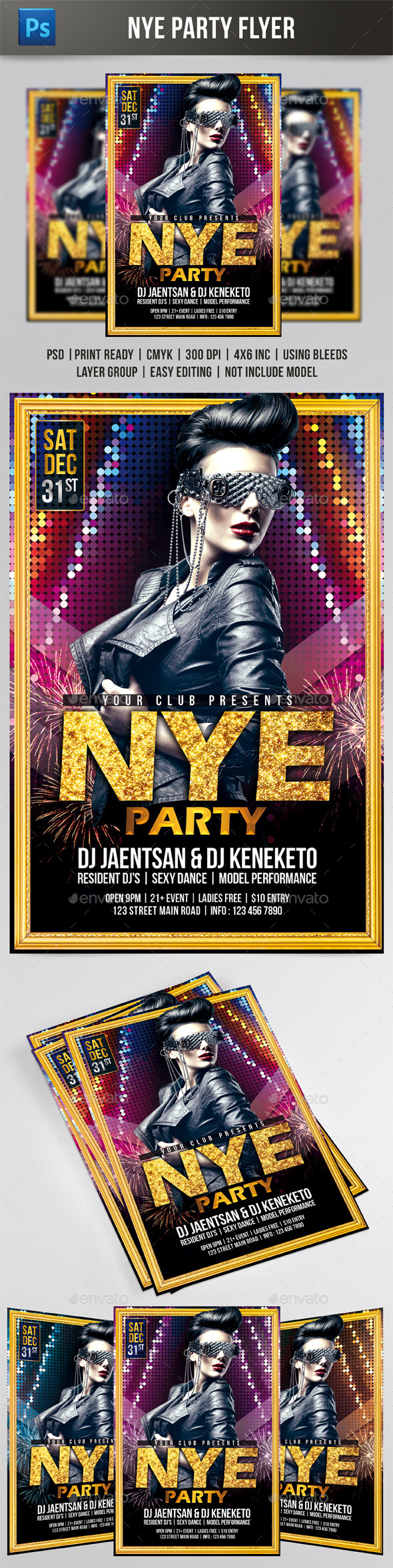 GraphicRiver NYE Party Flyer 9492397