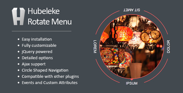CodeCanyon Hubeleke jQuery Circle Rotate Menu 9491145