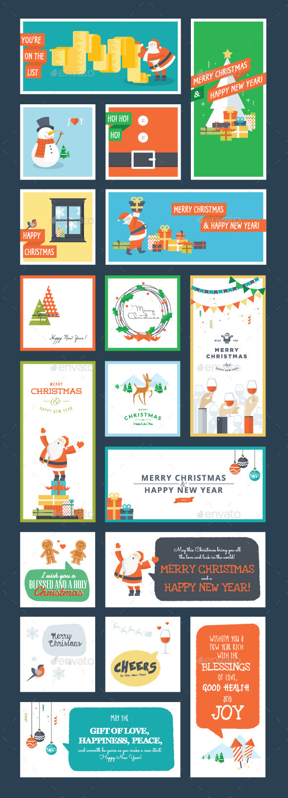 GraphicRiver Christmas and New Year Set 9492967