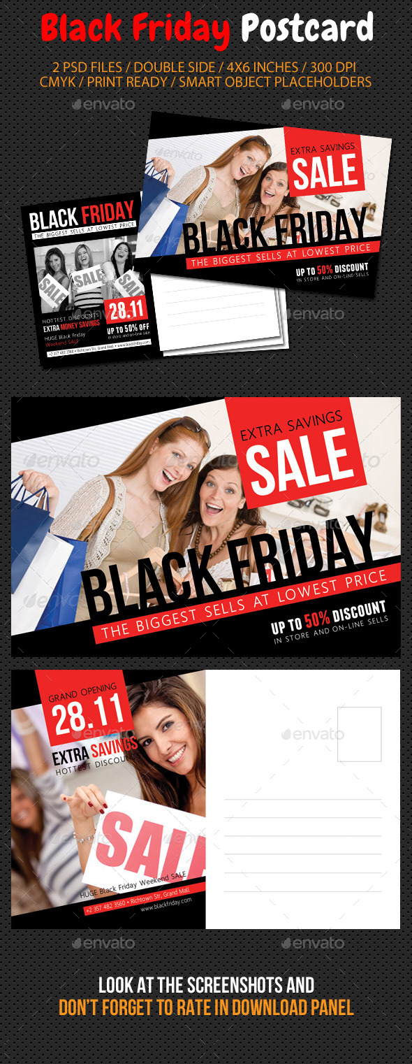 GraphicRiver Black Friday Postcard Template V03 9493001