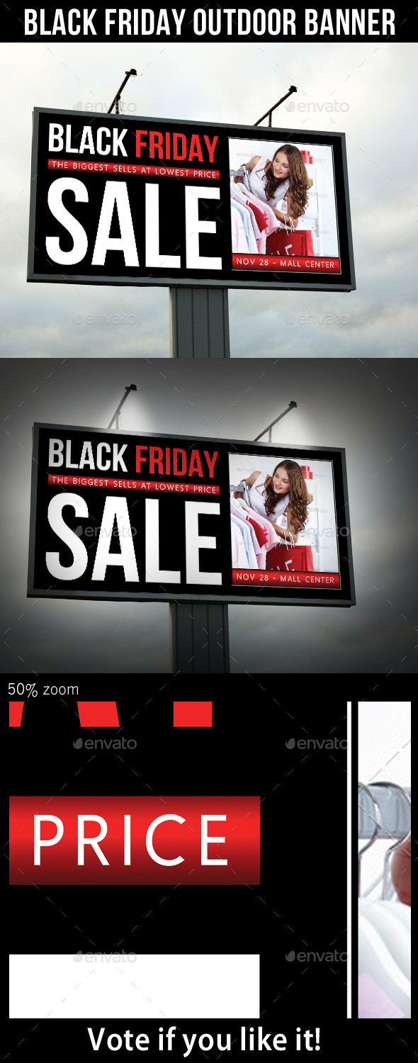 GraphicRiver Black Friday Sale Outdoor Banner V01 9493009