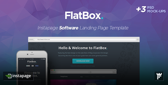 ThemeForest FlatBox Instapage Startup Landing Page Template 9493020