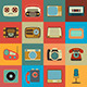 Retro Style Media Icons - GraphicRiver Item for Sale