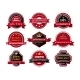 Flat Quality Product Guarantee Badges or Labels - GraphicRiver Item for Sale