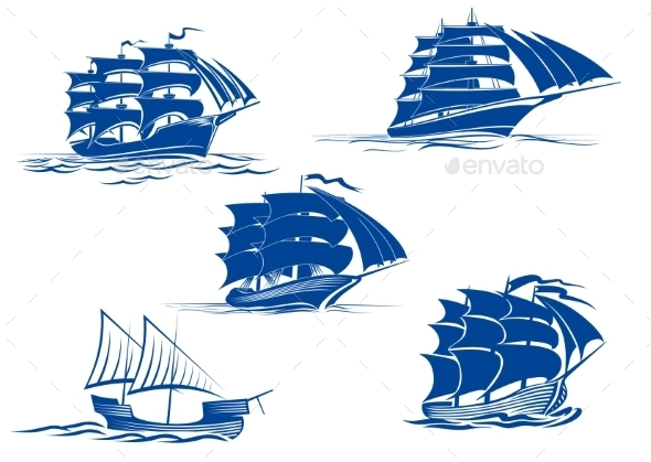 GraphicRiver Sailing Ship Symbols 9493444