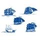 Sailing Ship Symbols - GraphicRiver Item for Sale