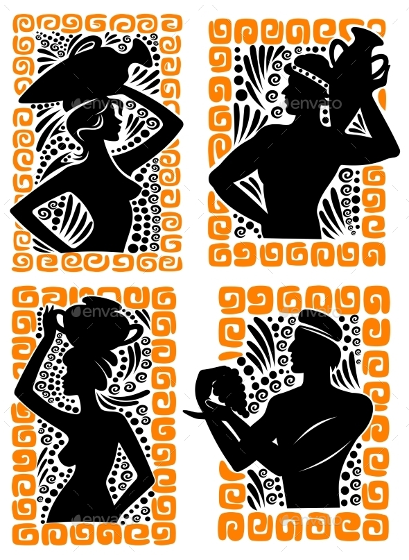 GraphicRiver Classical Greek or Roman figures 9493447