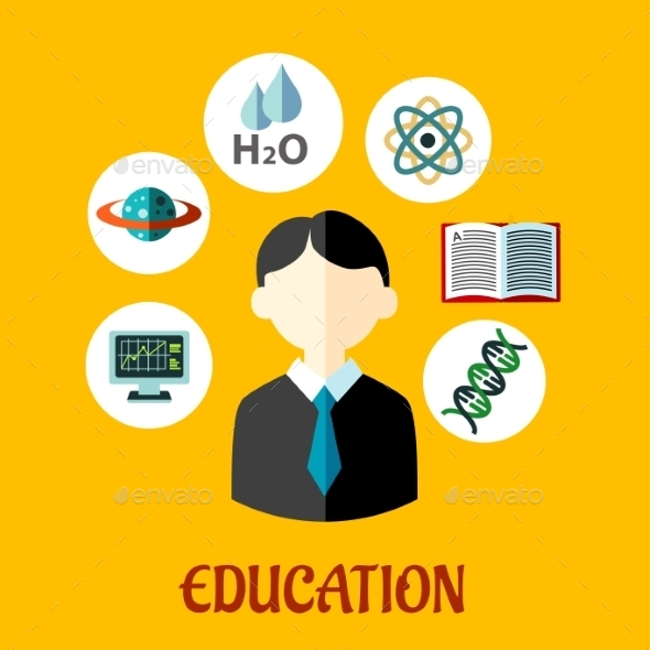 GraphicRiver Education Flat Infographics Template 9493453