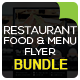 Restaurant Food & Menu Flyer Bundle - GraphicRiver Item for Sale