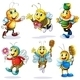 Group of Happy Bees - GraphicRiver Item for Sale