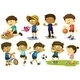 Kids Playing Various Activiies - GraphicRiver Item for Sale