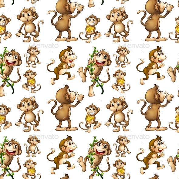 GraphicRiver Seamless Monkey 9493704