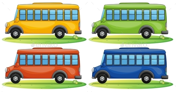 GraphicRiver School Buses 9493710