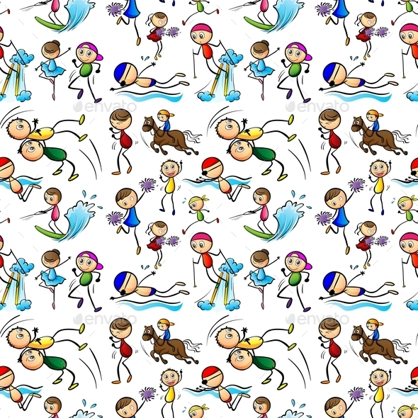 GraphicRiver Seamless Kids 9493741