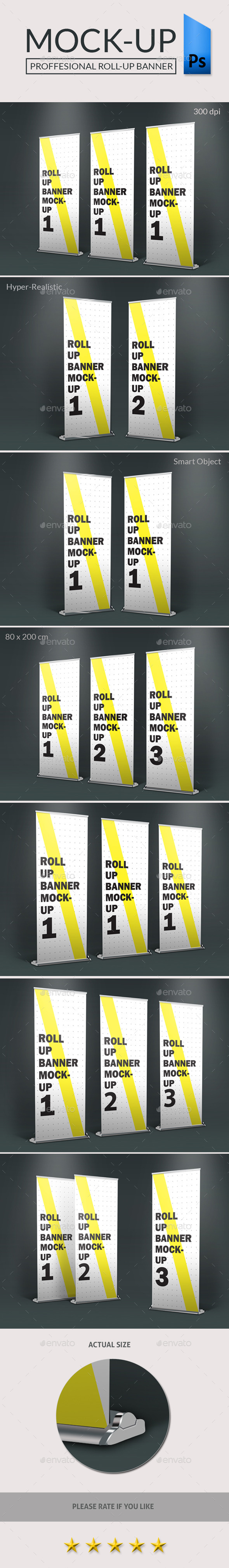 GraphicRiver Roll-Up Standing Banner Photorealistic-Mockup 9493797