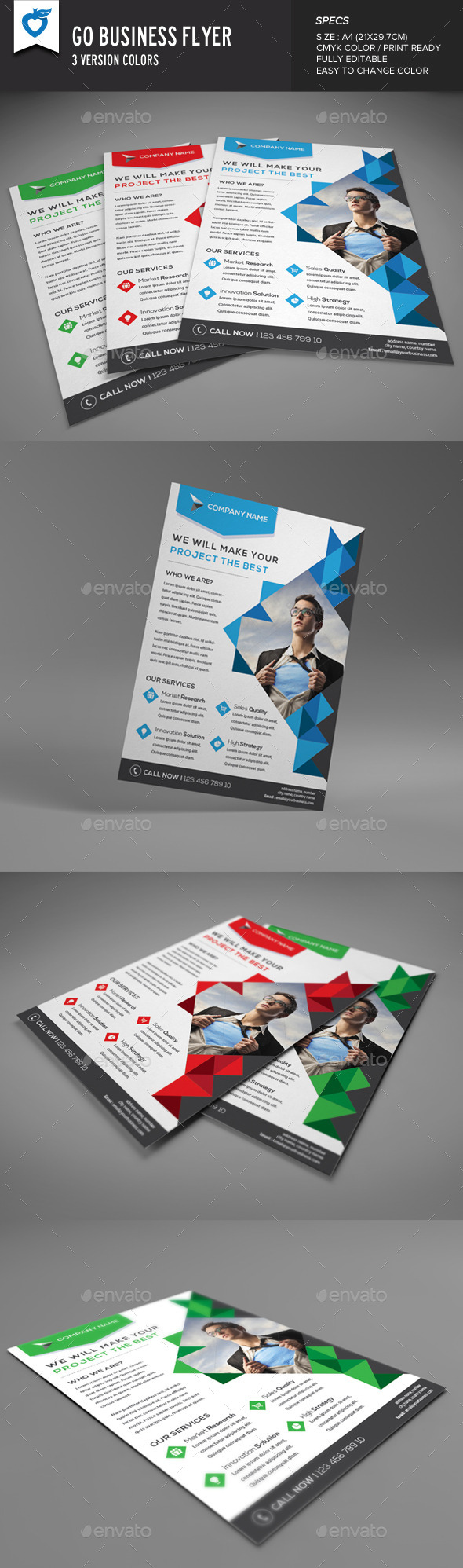 GraphicRiver Go Business Flyer 9493803