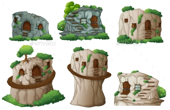 GraphicRiver Caves 9493805