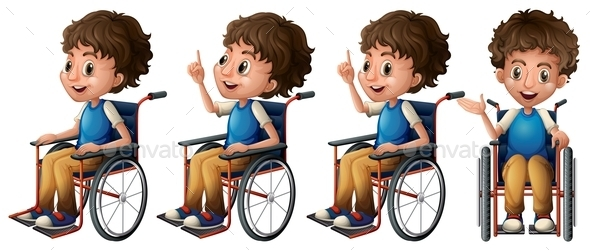 GraphicRiver Boy on Wheelchair 9493815