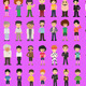 Flat Icon people collection - GraphicRiver Item for Sale