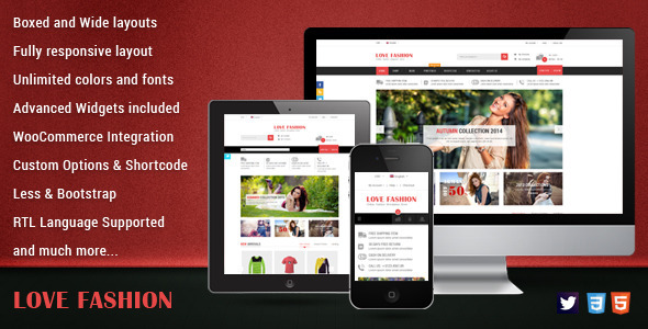ThemeForest Love Fashion Responsive WordPress Theme 9188835