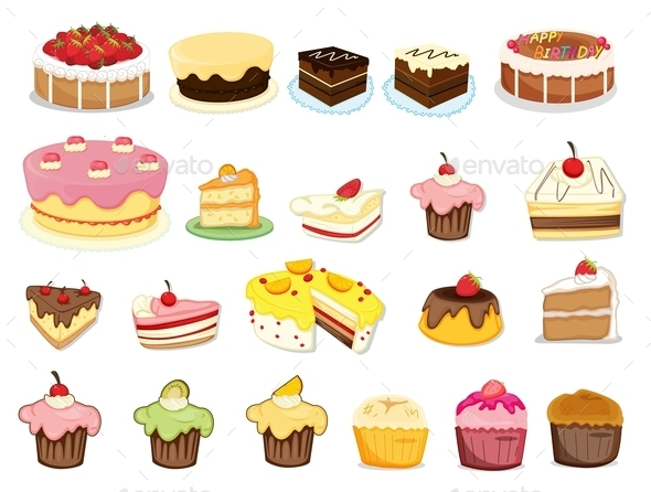 GraphicRiver Cake Collection 9493826